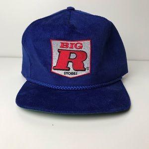 Vintage Blue Corduroy Strapback Hat